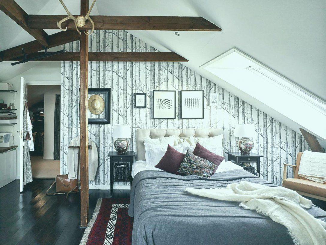 22 Tapeten Für Schlafzimmer Mit Dachschräge  Interior Designideen von Schlafzimmer Dachschräge Feng Shui Bild