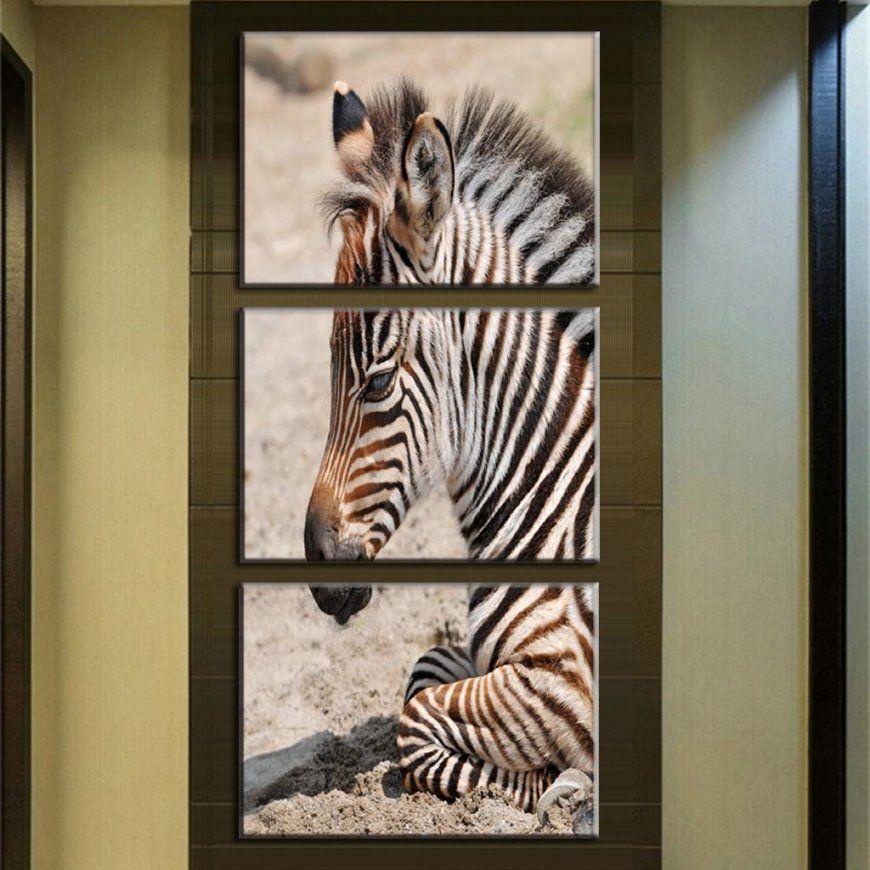 3 Teilesatz Tier Zebra Gemälde Große Leinwand Gemälde Vertikale von Zebra Bilder Auf Leinwand Bild