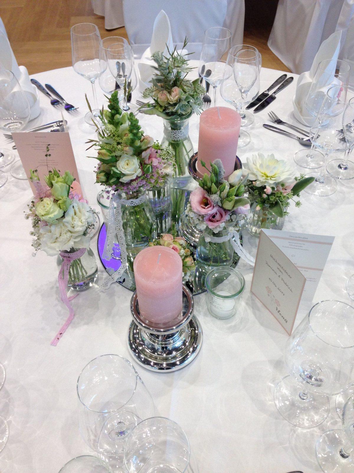 Tischdeko Hochzeit Vintage Rosa Hochzeit Kleid
