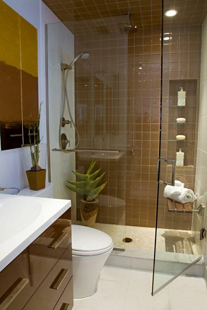 33 Ideen Für Kleine Badezimmer  Tipps Zur Farbgestaltung von Badezimmer Klein Modern Bild