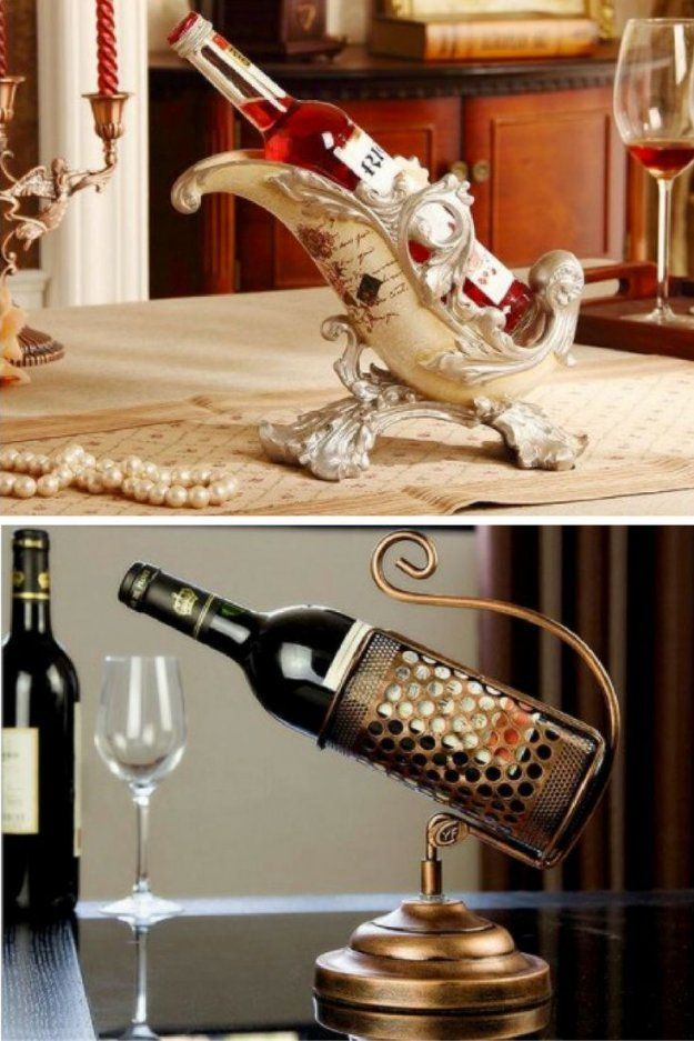 34 Best Unique Wine Bottle Holders Images On Pinterest  Drink von Unique Wine Bottle Holders Photo