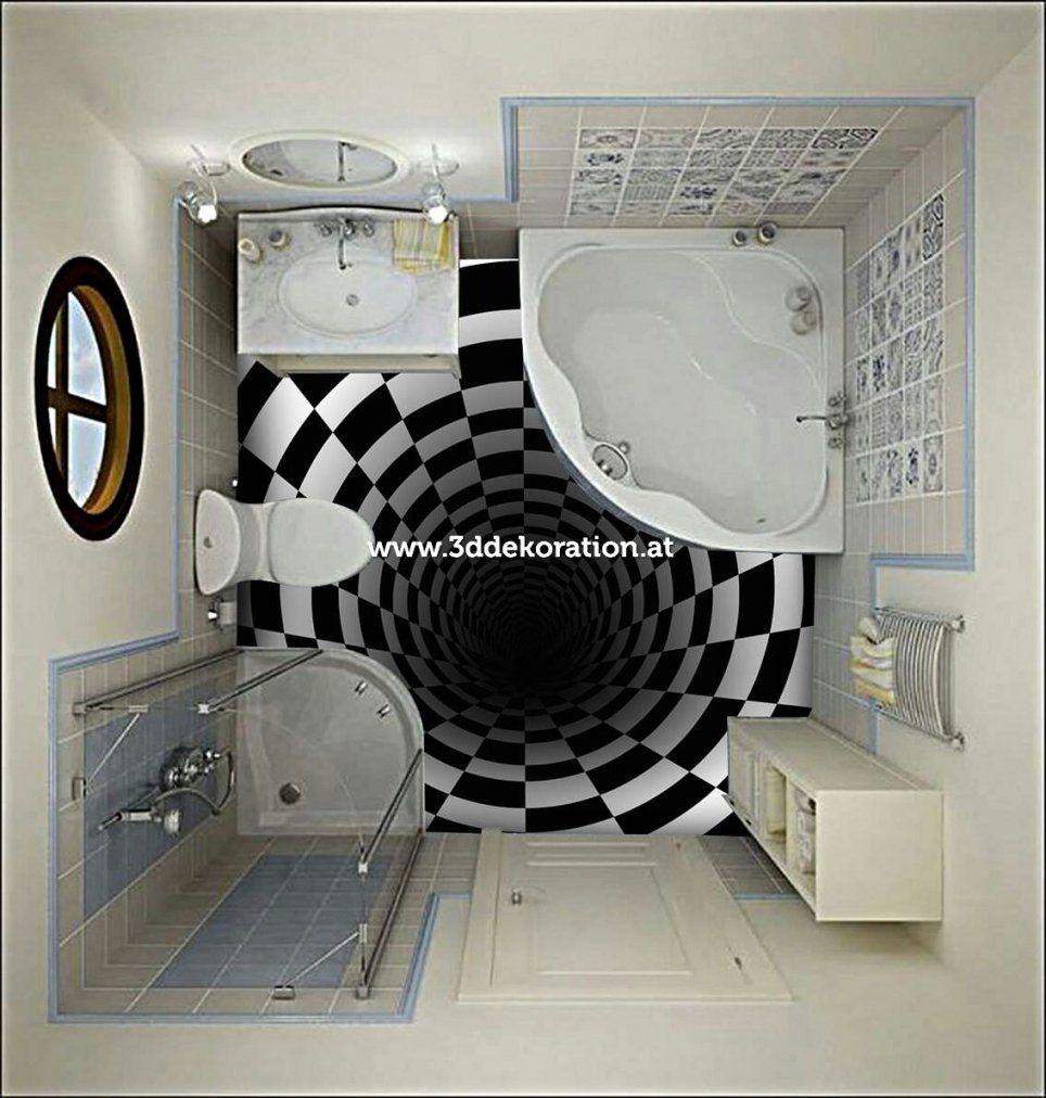 3D Dekoration  Produkt 3D Boden von Epoxidharz Bodenbelag Badezimmer Bild