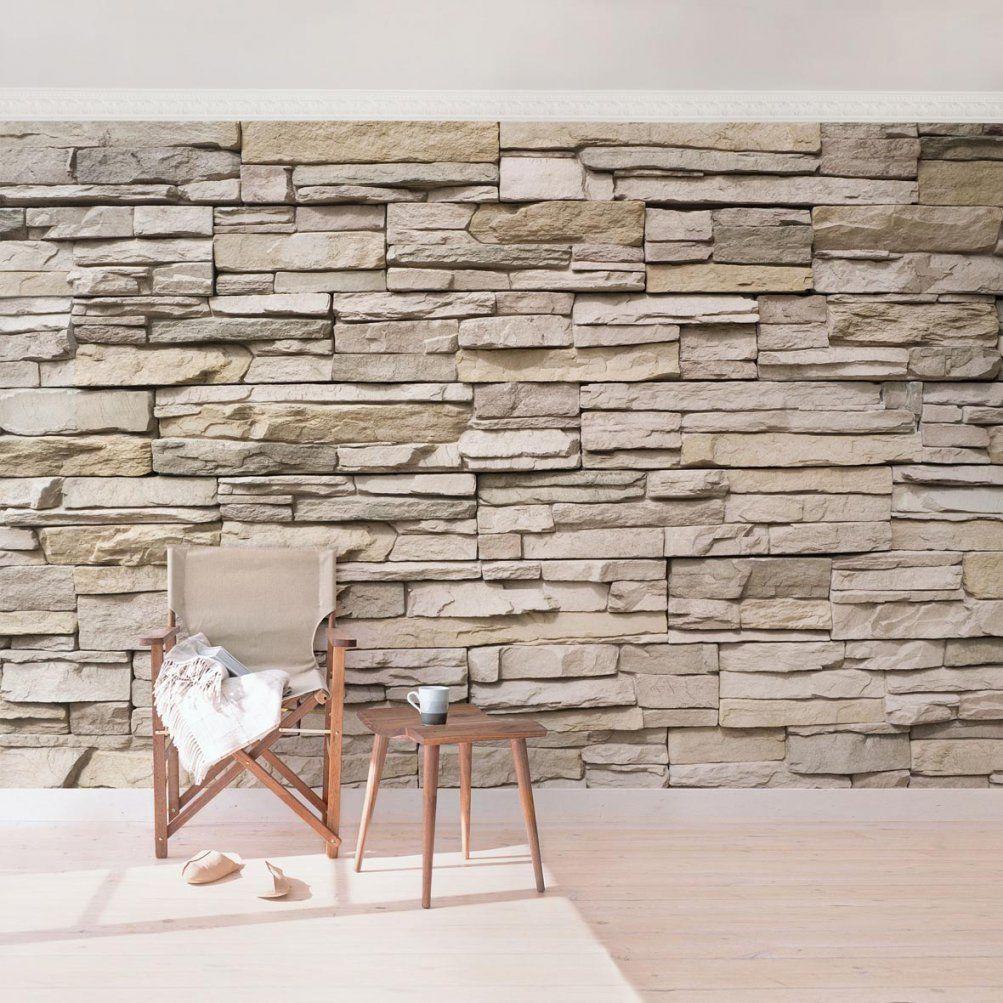 stein tapete wohnzimmer 3d haus design ideen. Black Bedroom Furniture Sets. Home Design Ideas