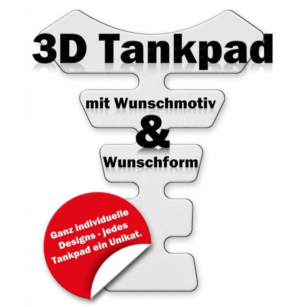 3D Tankpad Mit Wunschmotiv  Wunschform von Helm Aufkleber Selber Gestalten Photo