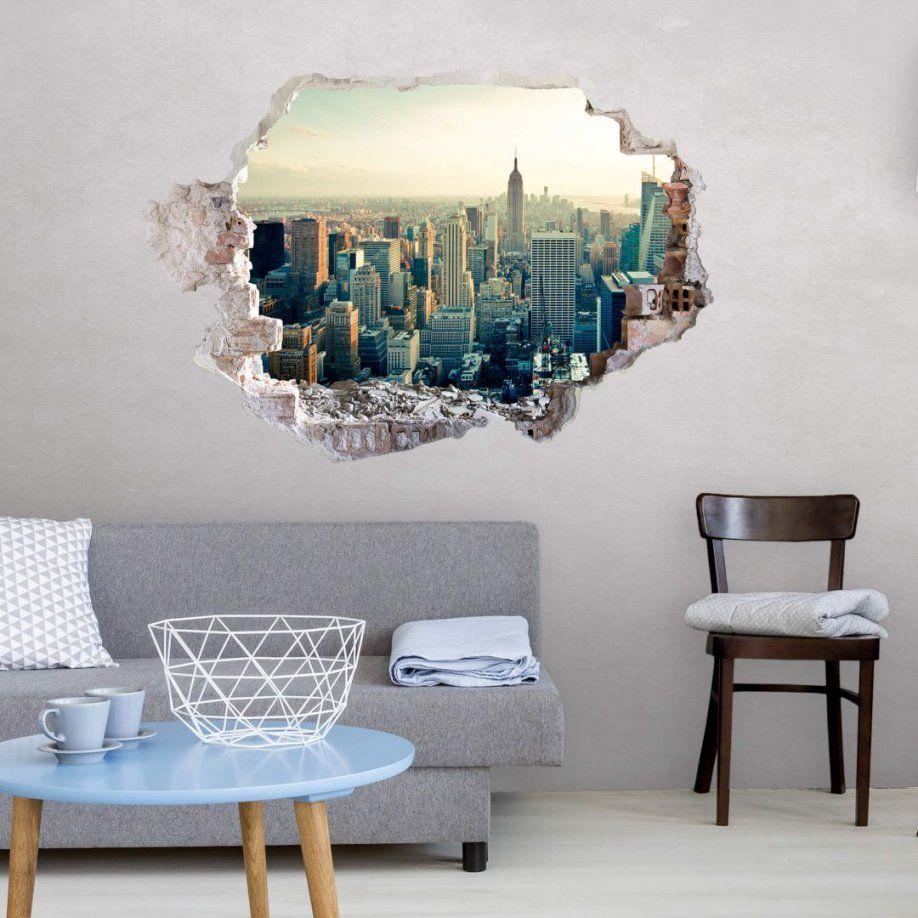 3D Wandtattoo Skyline Von New York City  Wallart von Wandtattoo New York City Bild