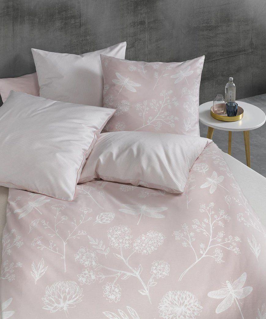 3Teilige Xxl Bettwäsche Mako Satin Mit Rosa Blumen Von Fleuresse von Blumen Bettwäsche Rosa Bild