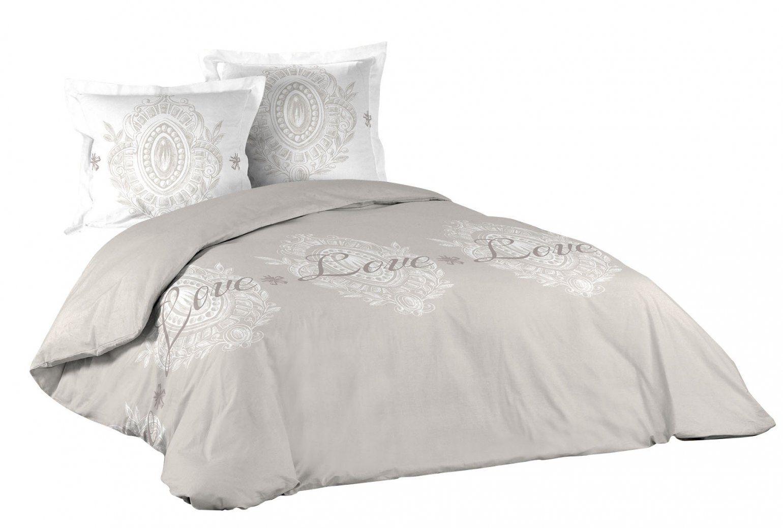3Tlg Vintage Bettwäsche 260X240 Baumwolle Bettdecke Übergröße von Übergröße Bettwäsche Maße Bild