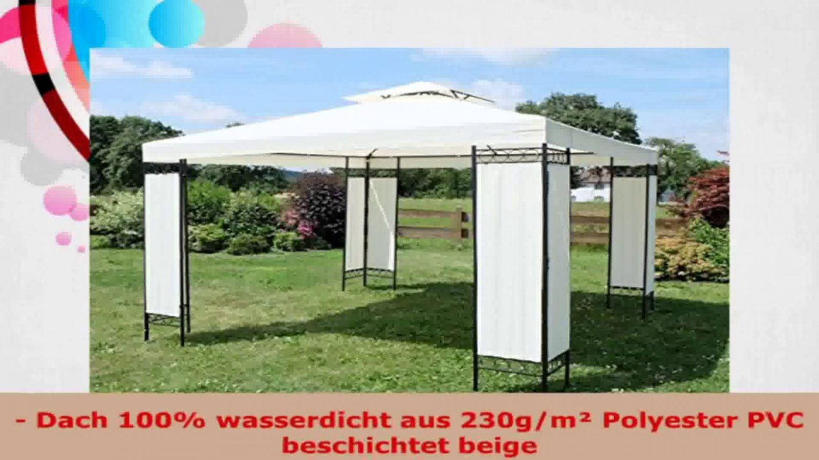 3X3 Wasserdicht Ersatzdach Gm Dach Extra Stark Pvc Wasserdicht von Pavillon 3X3 Wasserdicht Bauhaus Photo