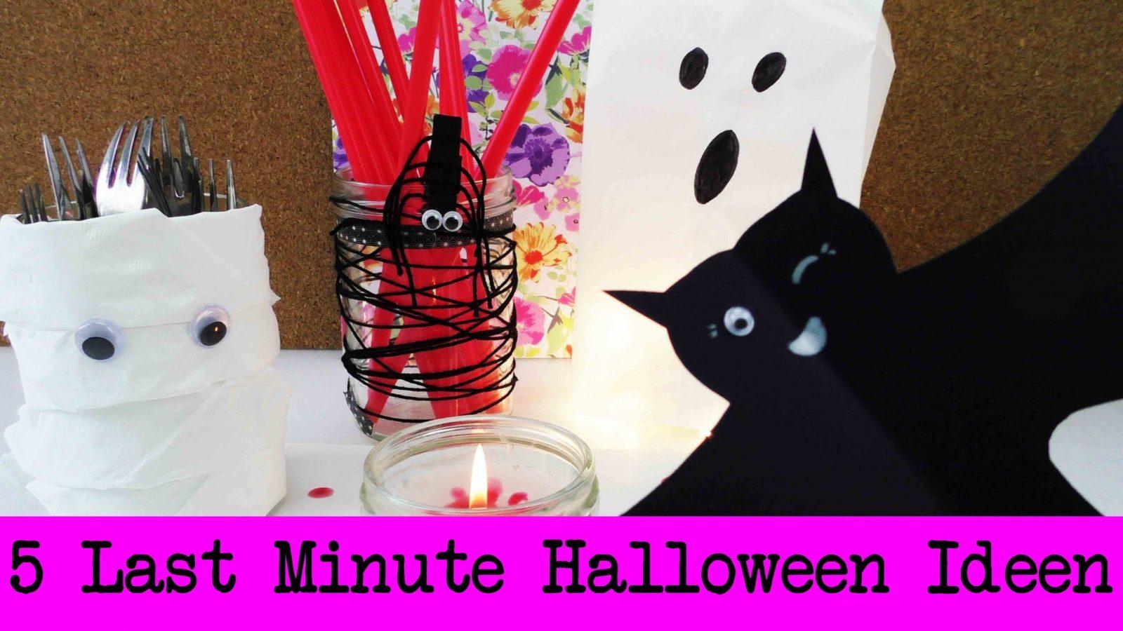 5 Last Minute Halloween Dekoideen  Schnelle & Einfache Halloween von Party Deko Selber Basteln Photo