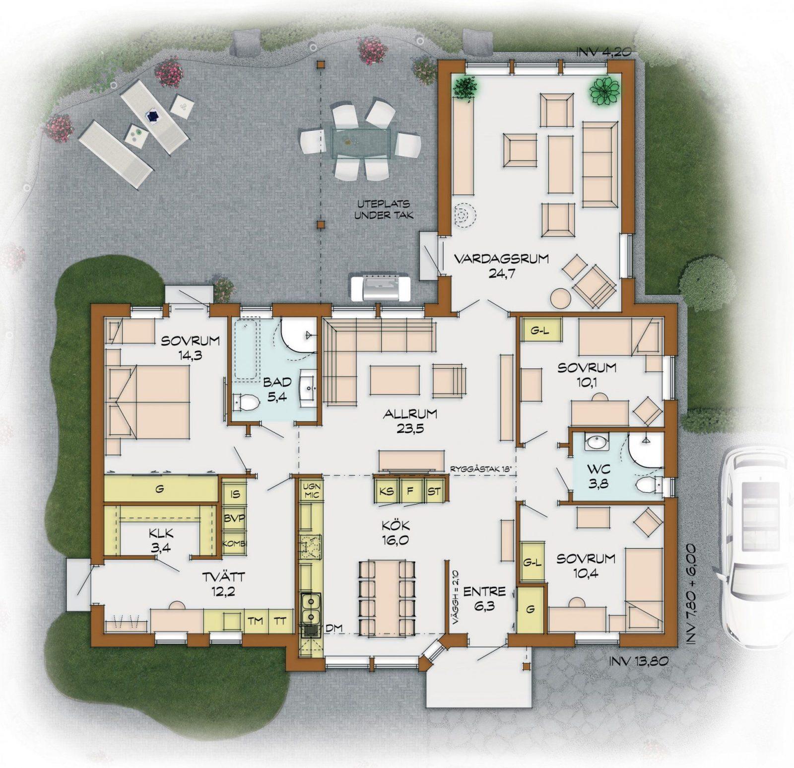 5 Zimmer Bungalow von Bungalow Grundriss 5 Zimmer Bild