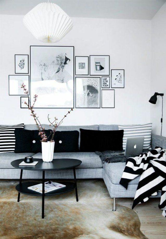 50 Fotowand Ideen Die Ganz Leicht Nachzumachen Sind  Wand von Deko Ideen Schwarz Weiß Photo