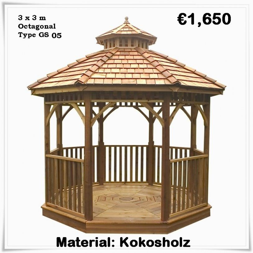 50 Tolle Holzpavillon Kaufen Planen  Terrassenüberdachung Ideen von Holz Pavillon Bausatz Günstig Photo