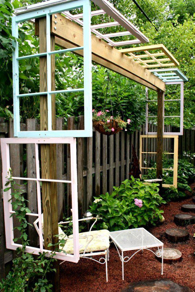 55 Ideen Für Gartendeko Aus Alten Fenstern Und Türen von Ideen Mit Alten Türen Bild