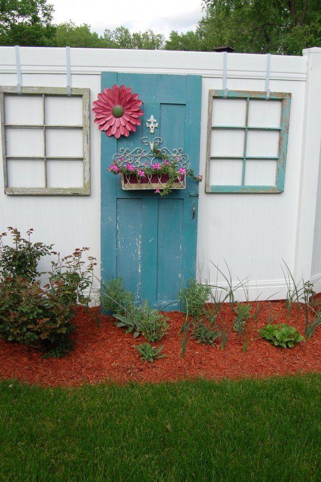 55 Ideen Für Gartendeko Aus Alten Fenstern Und Türen von Ideen Mit Alten Türen Photo
