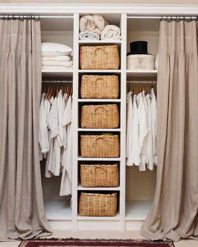 55 Tipps Für Kleine Räume  Kleiner Raum Schlafzimmer Westwing Und Raum von Begehbarer Kleiderschrank Mit Vorhang Bild