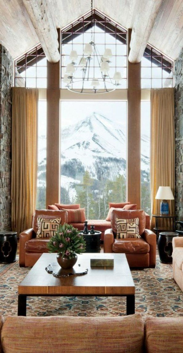 60 Elegante Designs Von Gardinen Für Große Fenster  Archzine von Gardinen Für Grosse Terrassenfenster Bild