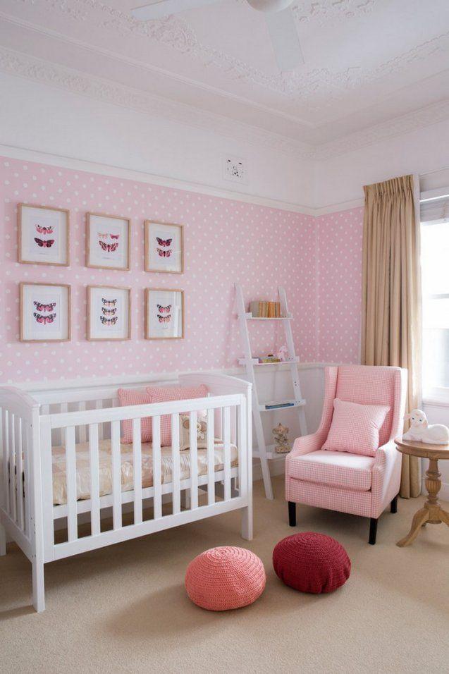 60 Ideen Für Babyzimmer Gestaltung Möbel Und Deko Wählen von Tapeten Für Kinderzimmer Mädchen Photo