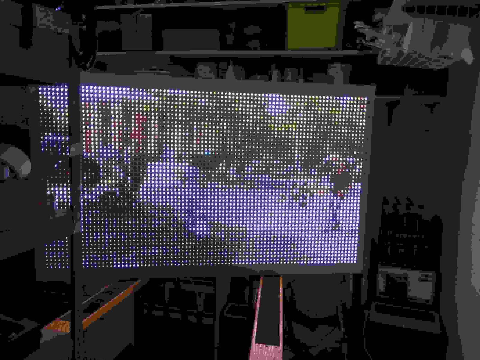 64″ Led Videowand  Arduinohannover von Led Leinwand Selber Bauen Bild