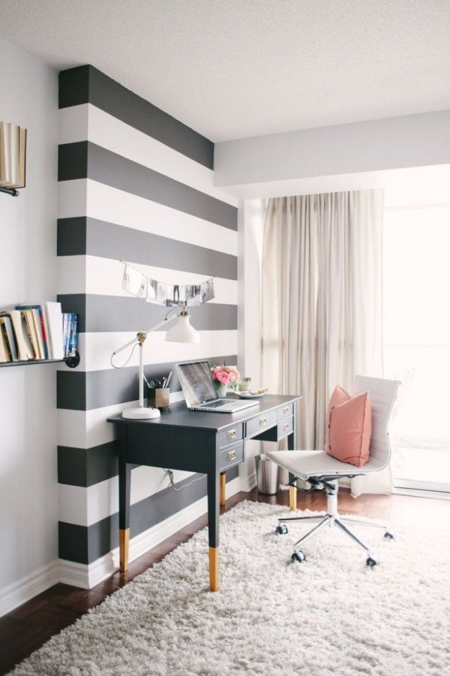 ... 65 Wand Streichen Ideen Muster Streifen Und Struktureffekte Von  Jugendzimmer Wände Gestalten Ideen Bild ...