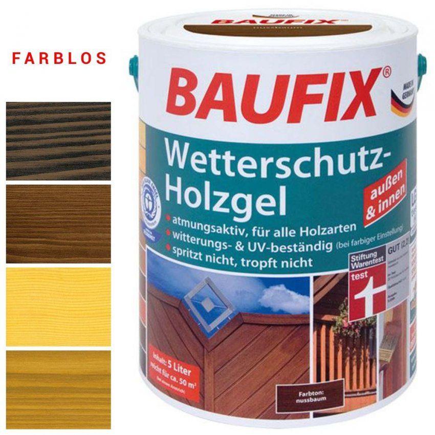 6€L) 25L Wetterschutz Holzgel Innen Außen Holzschutz  Kein von Baufix Wetterschutz Holzgel Palisander Bild