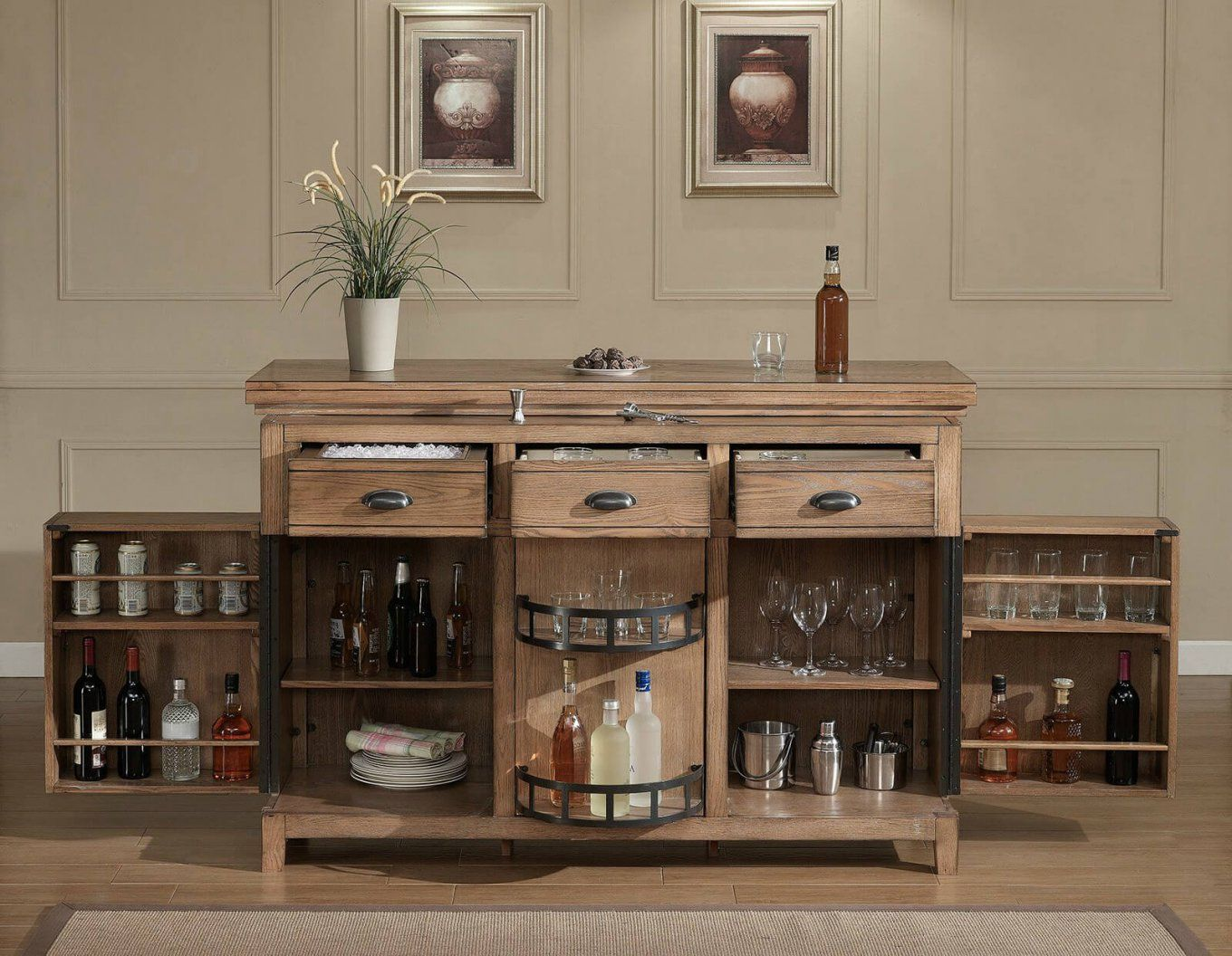 80 Top Home Bar Cabinets Sets & Wine Bars (2018) von Mini Bar With Stools Bild