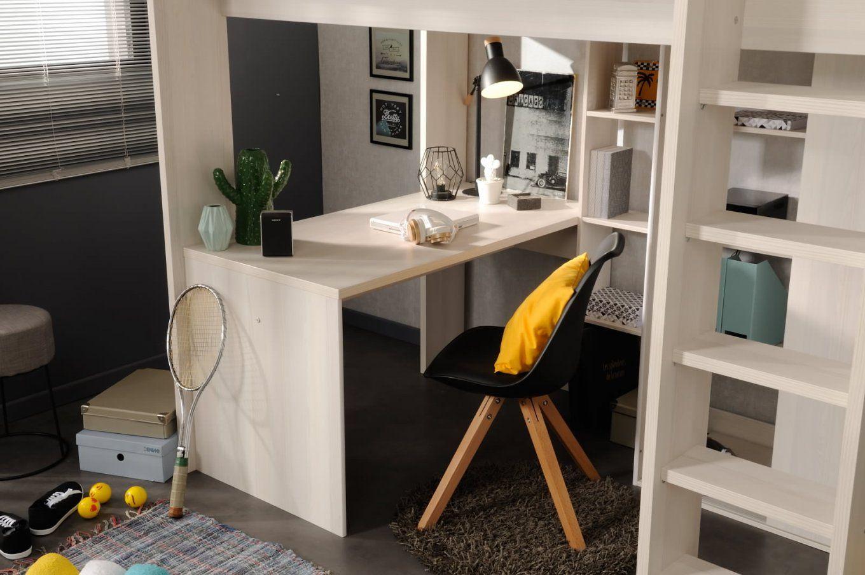 90x200 Hochbett Inkl Integrierter Schreibtisch U Schrank Higher 1b