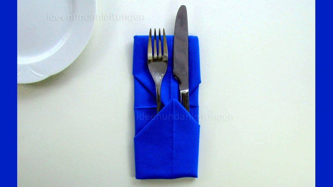 99 Serviette Falten Tasche Ideen von Servietten Falten Bestecktasche Zweifarbig Bild