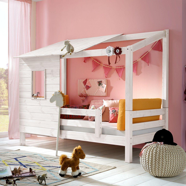 Abenteuerbett Aus Massivholz Für Mädchen  Kids Paradise von Mädchen Bett Selber Bauen Bild