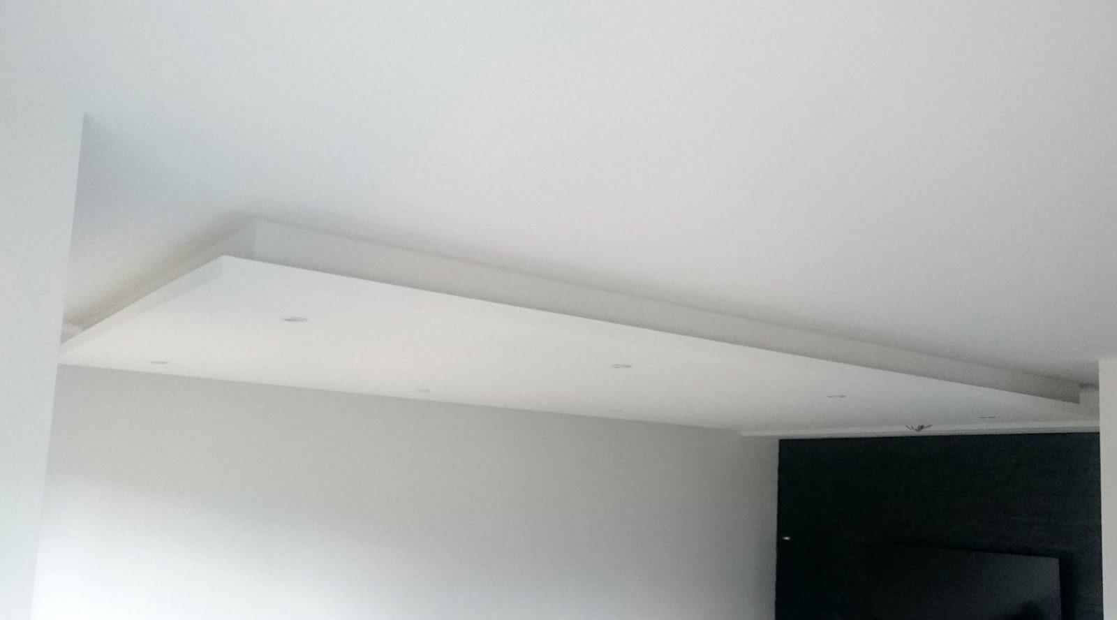 Abgehängte Decke Mit Indirekter Beleuchtung (Lichtvouten) Selber Machen von Rigips Decke Indirekte Beleuchtung Photo