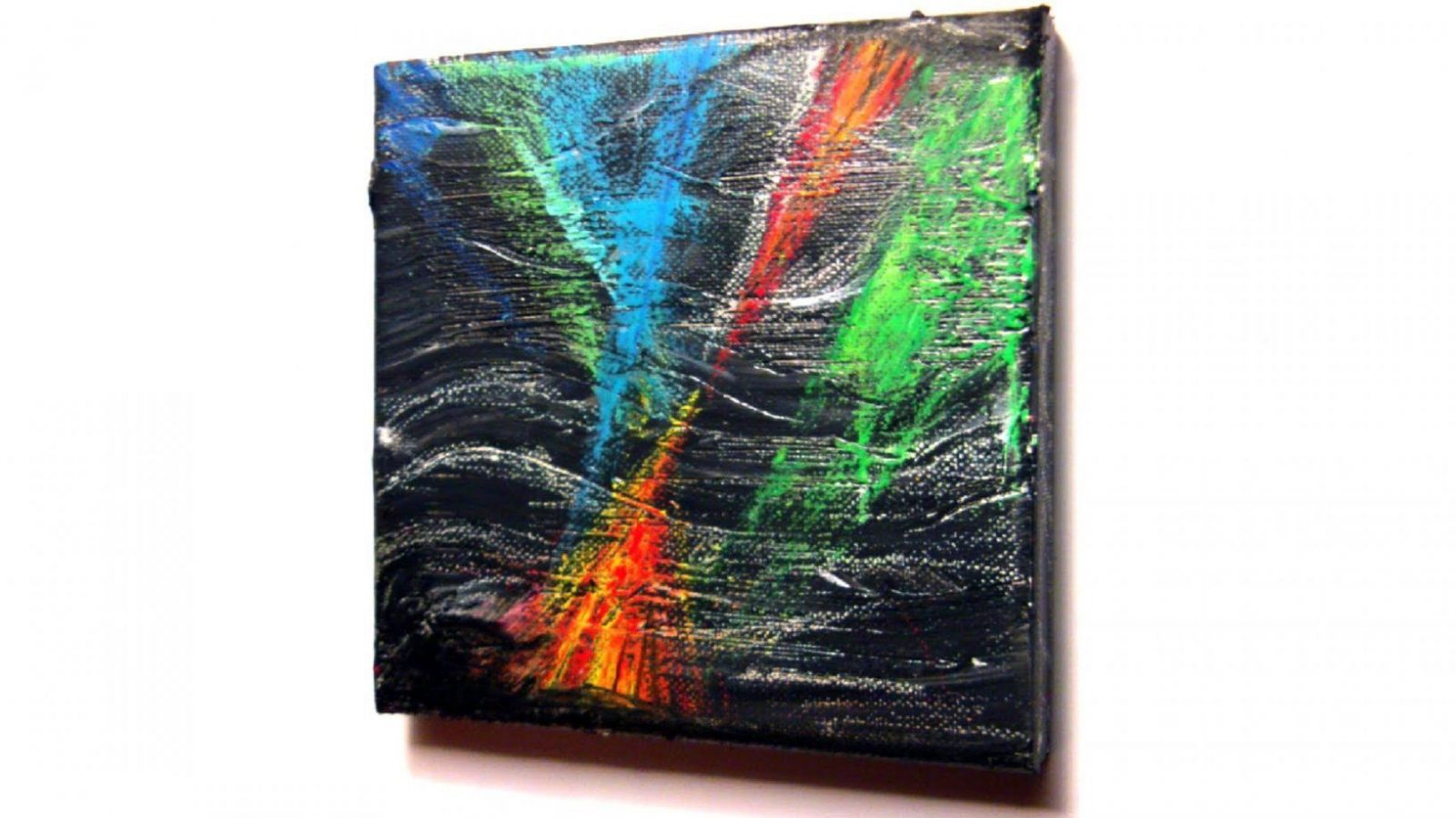 Abstrakt Malen Mit Acryl Und Ölkreide (Abstract Painting