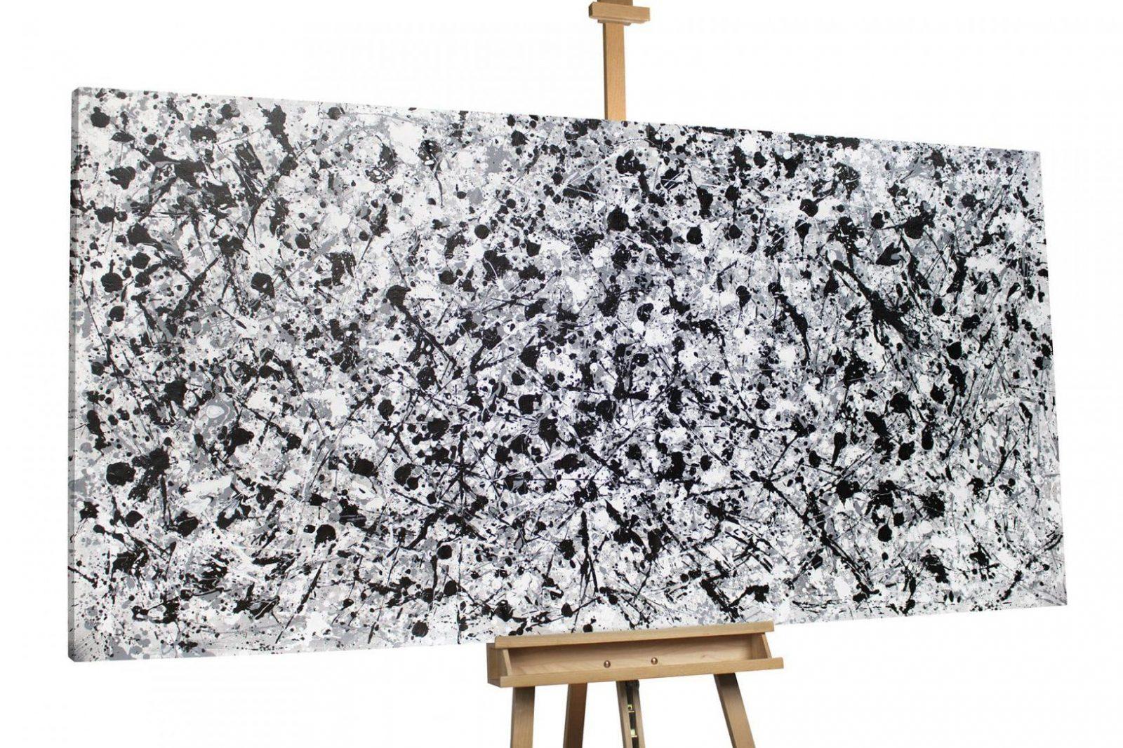 Abstraktes Xxlölbild Schwarz & Weiß Kaufen  Kunstloft von Leinwandbilder Schwarz Weiß Xxl Photo