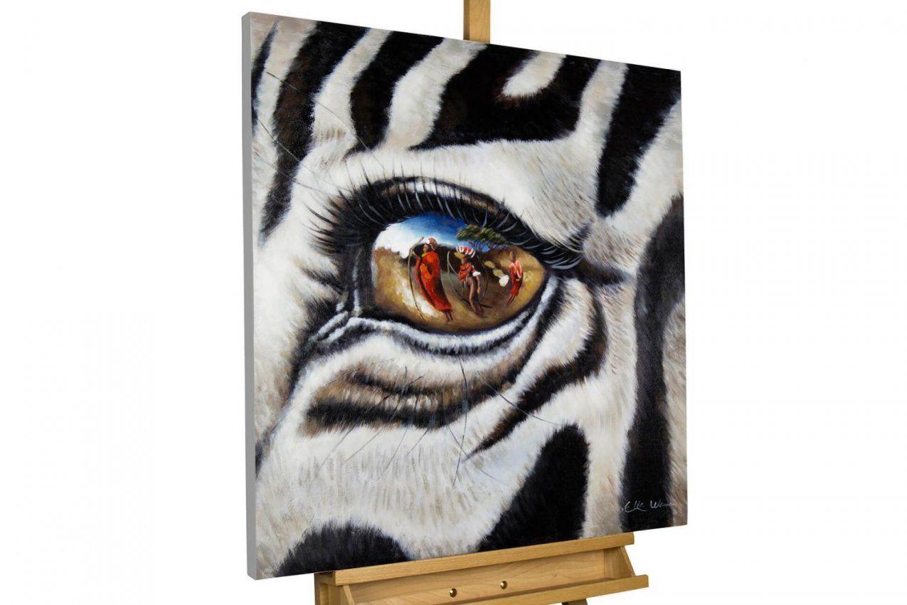 Acryl Gemälde 'zebra Afrika Motiv'  Handgemalt  Leinwand Bilder von Zebra Bilder Auf Leinwand Bild