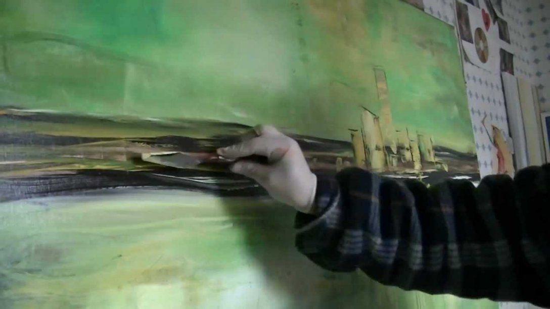 Acrylmalerei Abstract Acrylic Painting Abstraktes Bild Malen von Abstrakte Acrylbilder Selber Malen Bild