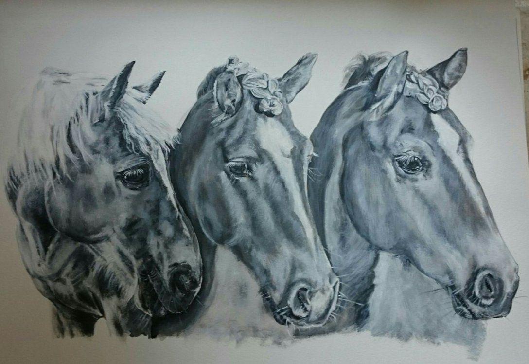 Acrylmalerei Pferd  341 Bilder Und Ideen  Gemalt  Auf Kunstnet von Gemalte Bilder Schwarz Weiß Photo
