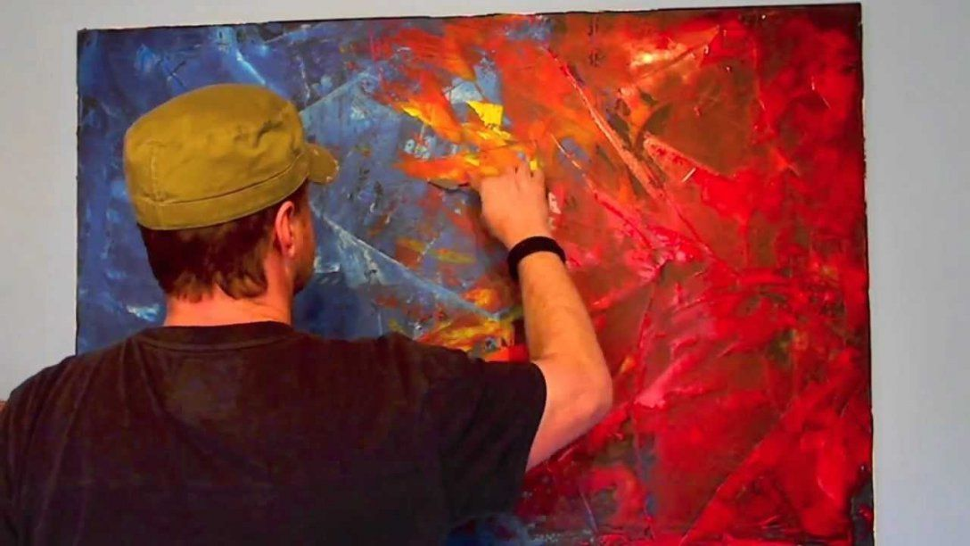 Acrylmalerei Spachteltechnik Abstrakt  Youtube von Abstrakt Malen Für Anfänger Photo