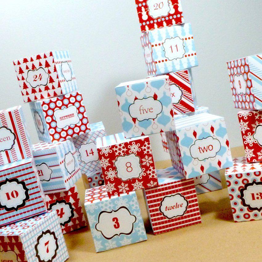 Adventskalender Basteln – Kostenlose Weihnachtskalendervorlagen von Ausgefallene Adventskalender Selber Basteln Photo