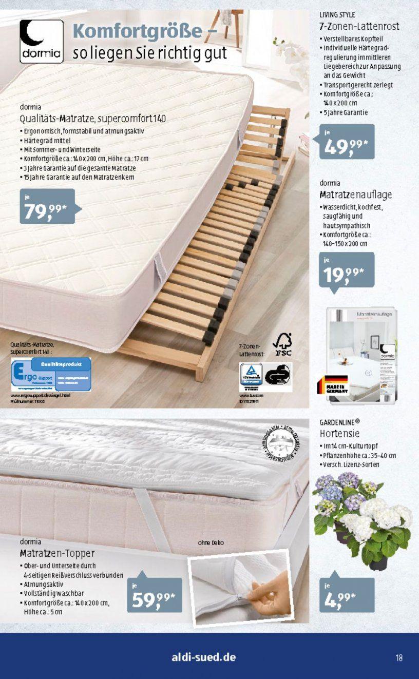 Aldi Süd Prospekte   Seite No 1832 Gültig Von 177 Bis 2372017 von Dormia® Qualitäts-Matratze Supercomfort 140 Bild