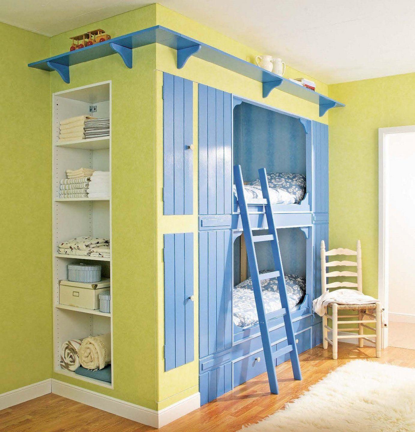 Alkovenbett Im Countrylook Selber Bauen  Kinderzimmer  Pinterest von Hochbett Für Kinder Selber Bauen Photo