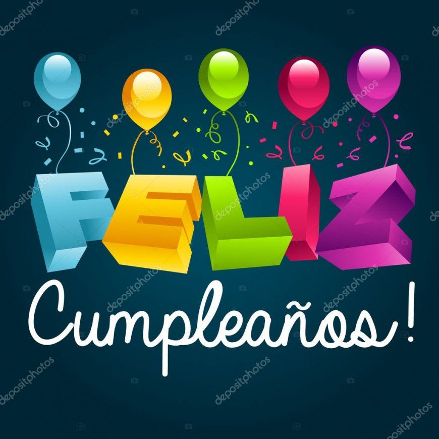 Alles Gute Zum Geburtstag Auf Spanisch — Stockvektor © Mictoon 22478213 von Alles Gute Zum Geburtstag Auf Spanisch Bild