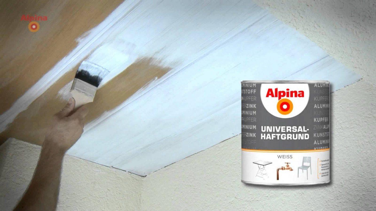 Alpina Farben  Holzdecke Lackieren  Youtube von Holzdecke Weiß Streichen Sprühen Bild