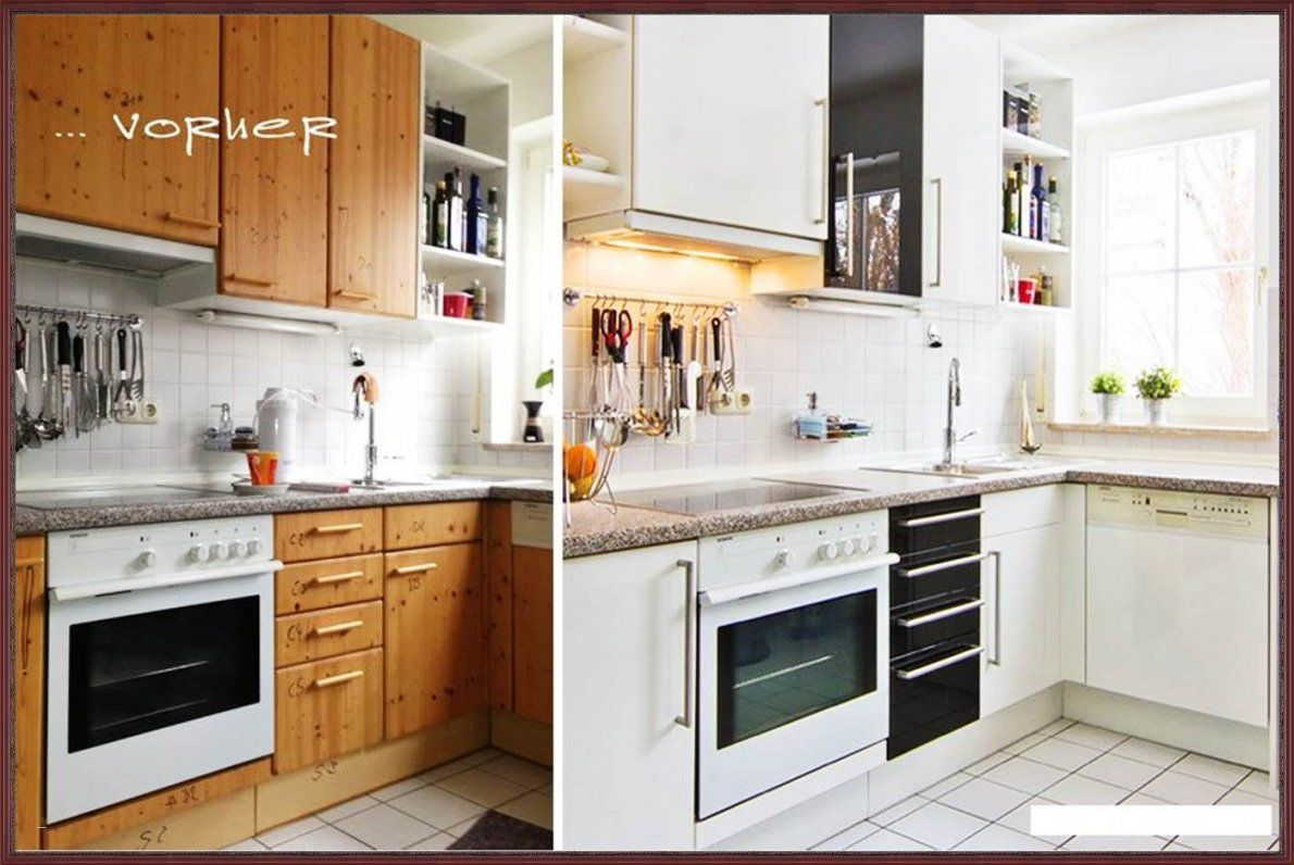Alte Küche Neu Gestalten Vorher Nachher Beliebt Streichen Vorher von Küche Neu Streichen Und Gestalten Photo
