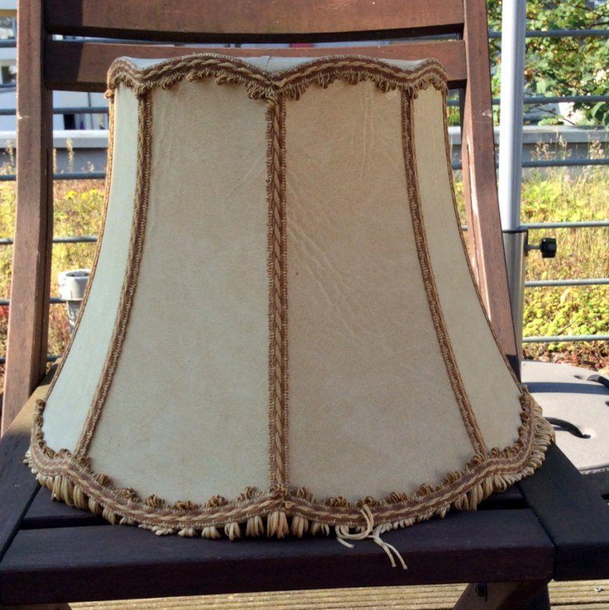 Alter Lampenschirm Wird Neue Stehlampe  Upcycling Diy von Lampenschirme Für Stehlampen Kaufen Bild