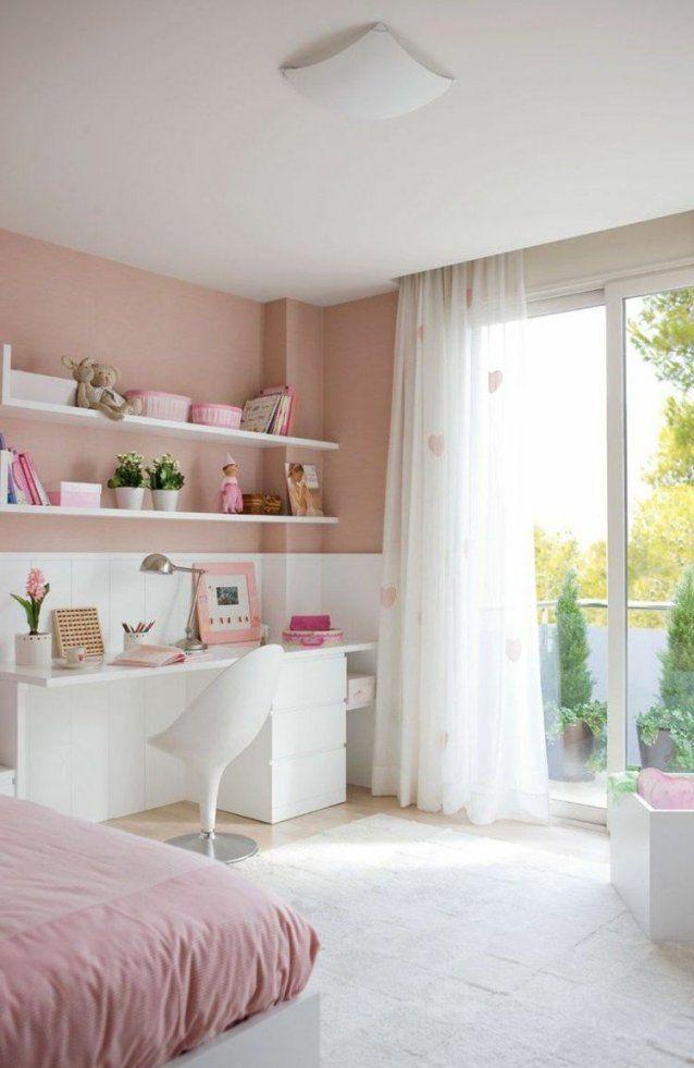 Altrosa Wandfarbe Modern Schlafzimmer Schreibtisch Weiss Vorhang von Coole Gardinen Für Jugendzimmer Photo
