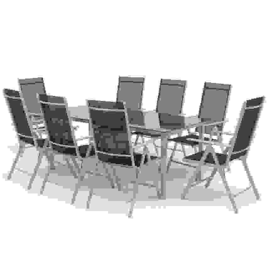Alu Sitzgarnitur Gartenmöbel Set 9 Teilig Garnitur Ist Oberteil von Gartenmöbel Set 9 Teilig Alu Bild