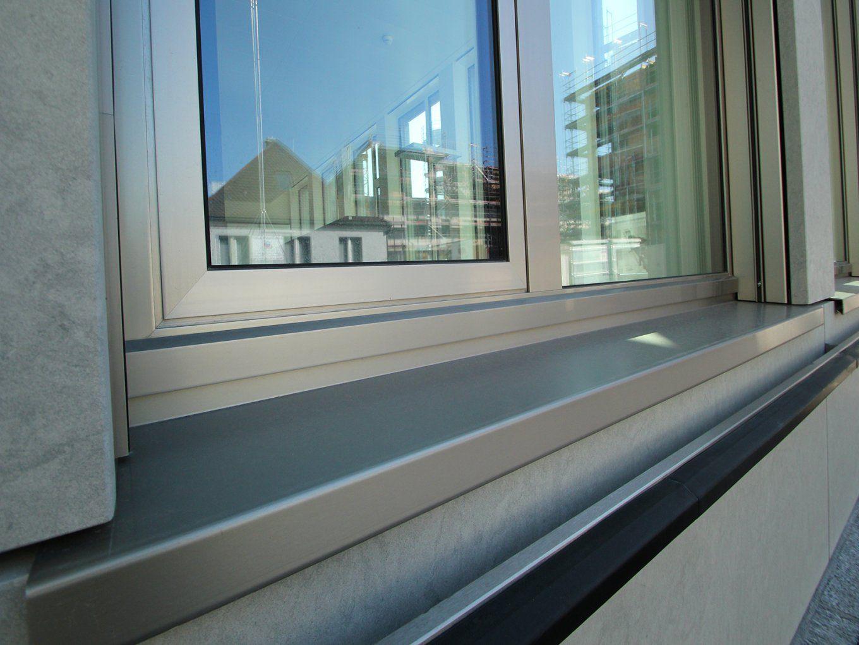 Aluminium Fensterbank Individuell Hergestellt In Der Schweiz von Fenster Ohne Fensterbank Außen Bild
