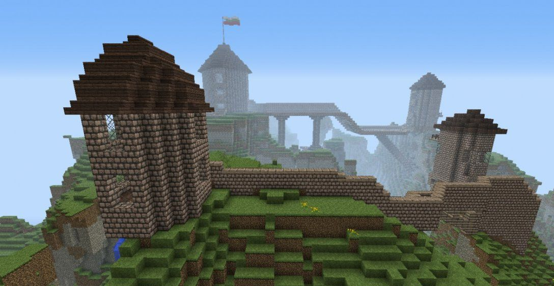 Amazing Castle On A Mountain Seed Minecraft Project von Minecraft Seeds Ps4 Castle Photo