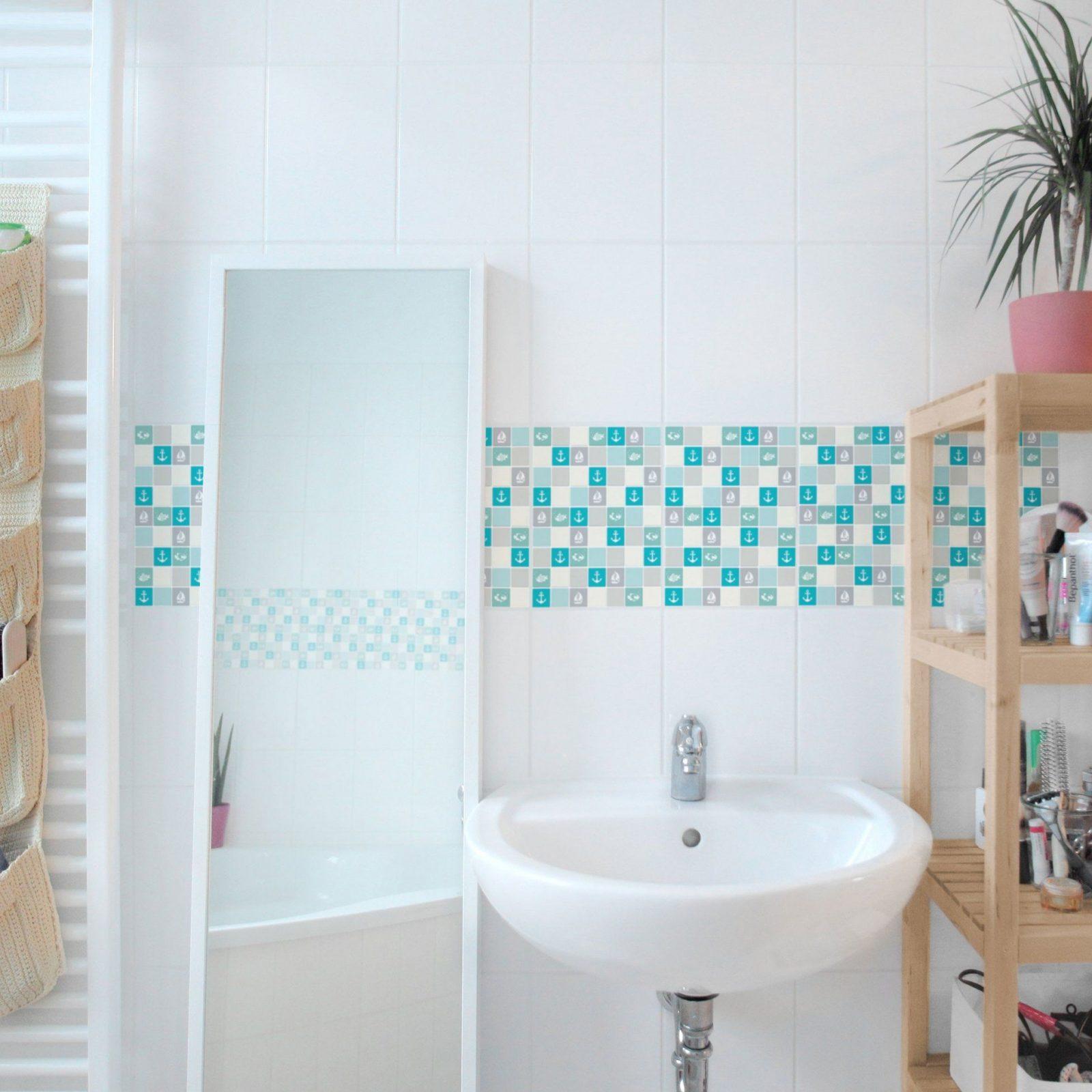 Amazing Design Fliesenfolie Mosaik Fliesenaufkleber Selbstklebende von Mosaik Fliesen Bad Türkis Photo