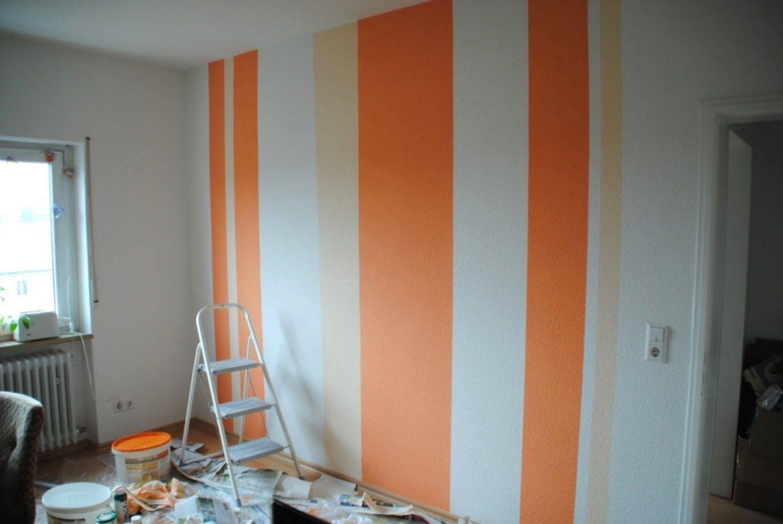 Amazing Wandstreifen Malen Wand Streifen Ansprechend Auf Dekoideen von Streifen Streichen Abkleben Acryl Photo