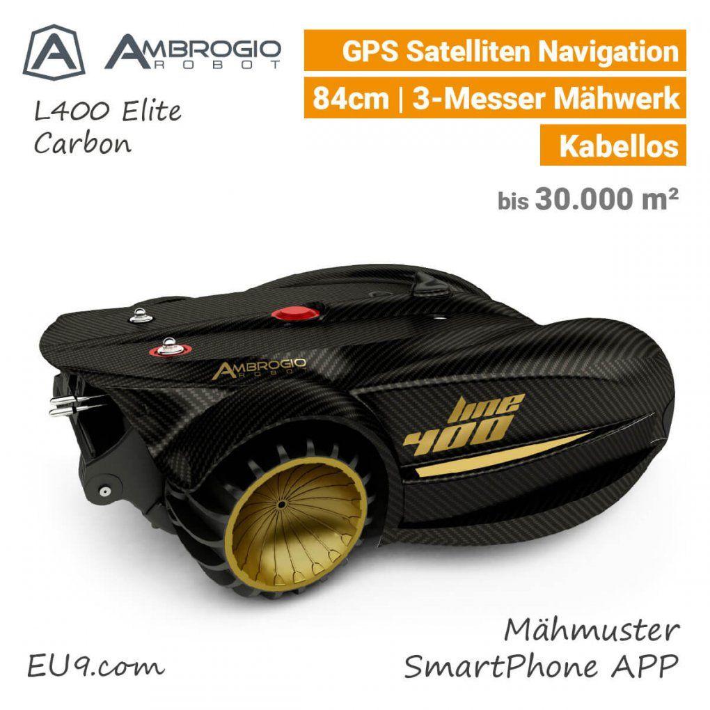 Ambrogio L400 Elite Mit Gpsnavigation  Lassen Sie Sich Beraten von Rasenmäher Roboter Mit Gps Bild