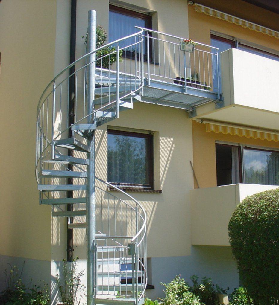 Ambs Metallbau Gmbh Aussentreppen Von Treppe Vom Balkon In Den Garten